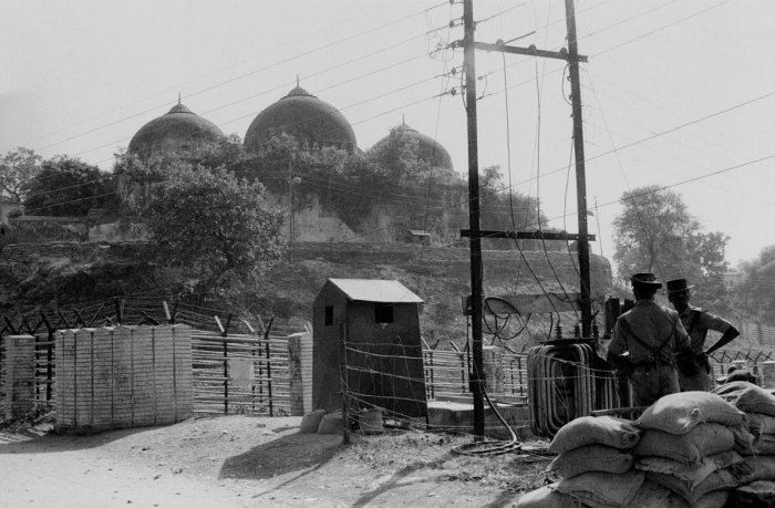 Ram Janmbhoomi-Babri Masjid land in Ayodhya. (PTI Photo)