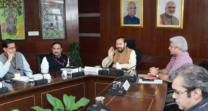 Air pollution mitigation efforts meeting. (PTI Photo)