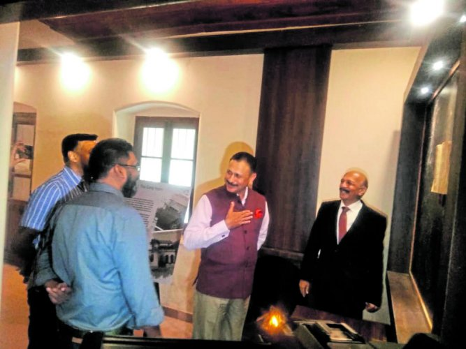 Army Training Command General Officer Commanding-in-Chief Lt Gen P C Thimayya visited the under-construction General K S Thimayya Museum in Madikeri on Saturday.