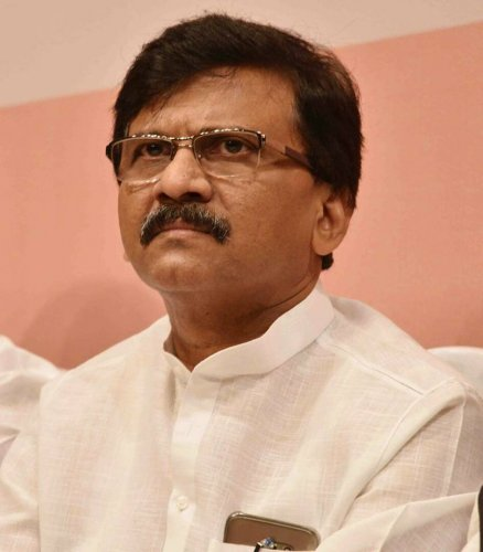 """The Shiv Sena """"will step in"""" if no one forms the government, Raut told reporters here. Photo/Facebook (sanjay.raut.100)"""
