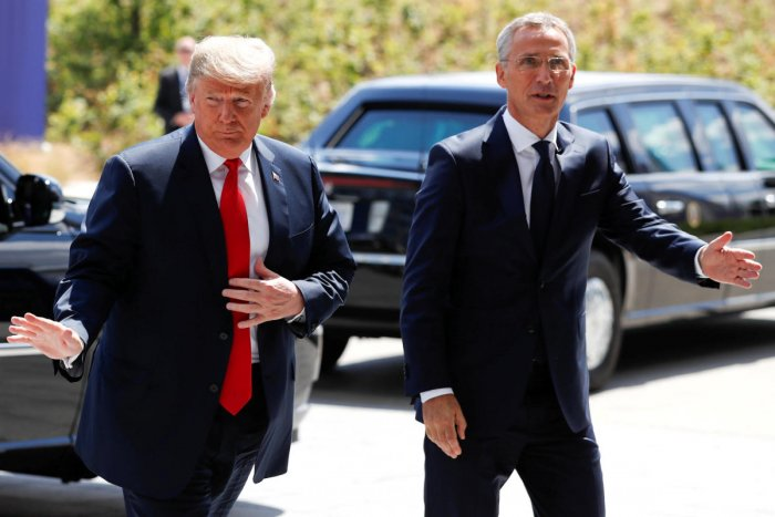 Trump and Stoltenberg, who is Norwegian, will also discuss counterterrorism, cyber-security and protecting critical infrastructure. Photo/Reuters