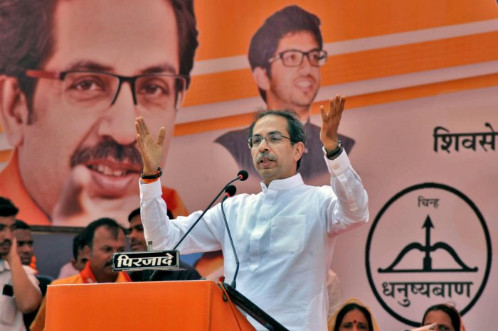 """""""We remember Balasaheb today... I will also go and meet Advaniji. He played a very big role in the Ram temple movement by undertaking rath yatras,"""" said Thackeray. Photo/PTI"""