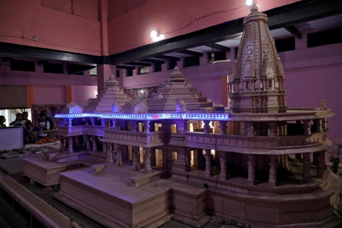 A proposed model of Ram Temple (Reuters Photo)