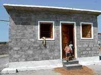 Model houses for flood-affected families