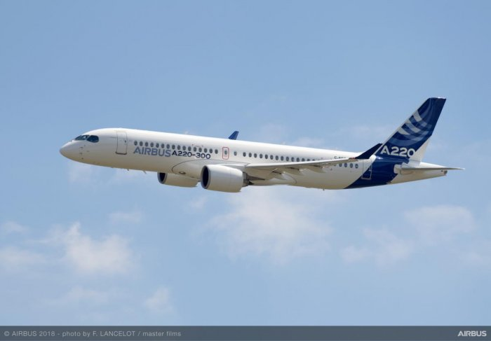 Airbus A220. (File Photo/Airbus)