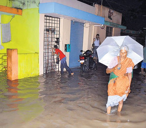 Two washed away in flood waters in C'nagar, lightning kills man in Tumkur