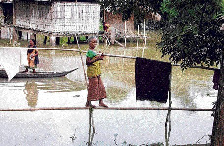Flood toll touches 20 in Assam