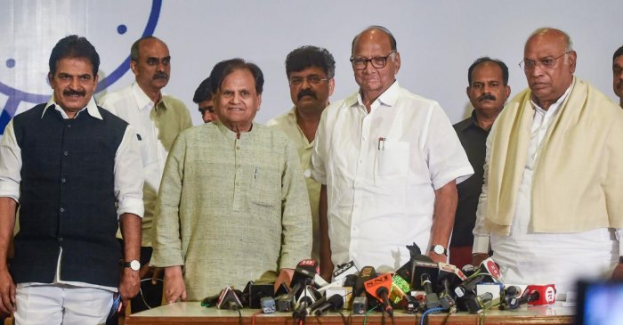 The Congress-NCP-Sena common minimum programme (CMP) will focus on the common man, farmers,downtrodden and marginalized sections of the society.(PTI File Photo)
