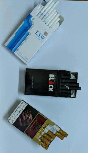 Korea and Indonesia made cigarettes, seized in Guwahati. DH Photo/Directorate of Revenue Intelligence, Guwahati