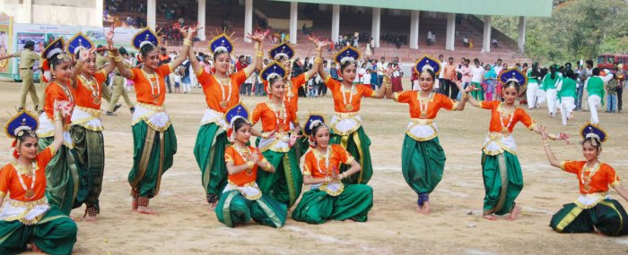 A dance ballet by students attracted the audience during Republic Day celebrations at General Thimayya Stadium in Madikeri on Saturday.