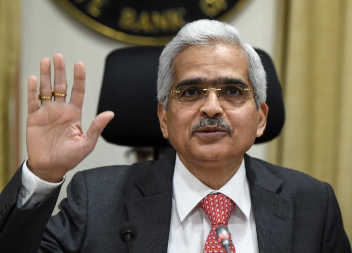 Reserve Bank of India (RBI) Governor Shaktikanta Das at a press conference. AFP file photo