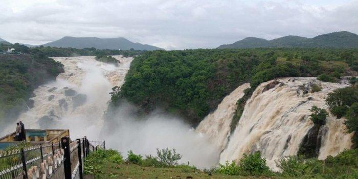 The Gaganachukki Falls in Malavalli taluk, Mandya district.