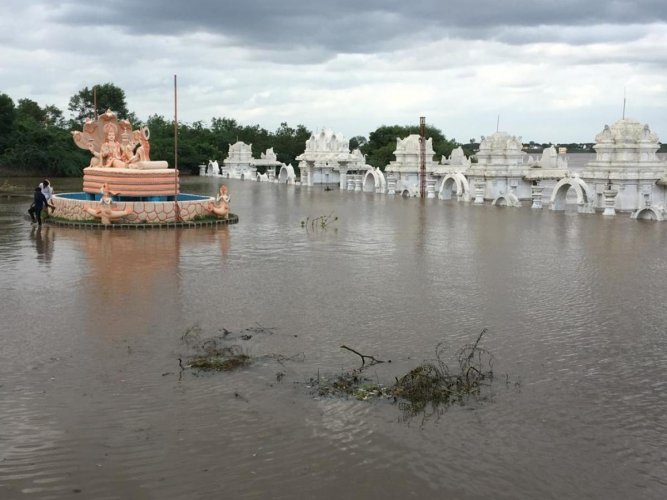 Dattatreya Temple at Deval Gangapur in Kalaburagi district under Bhima waters.
