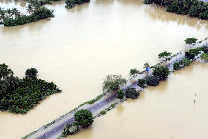 A view of a flood-affected region in Malappuram district of Kerala. PTI photo