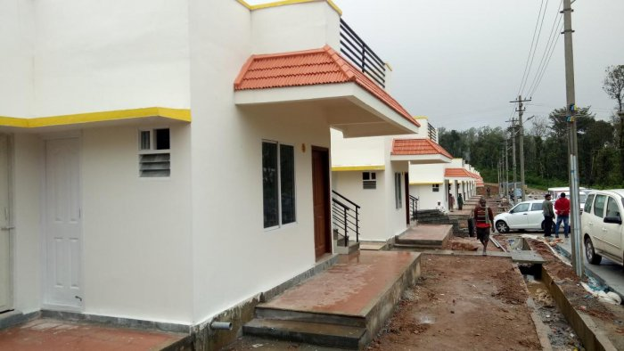 The houses constructed for flood victims of 2018 at Karnangeri in Kodagu.