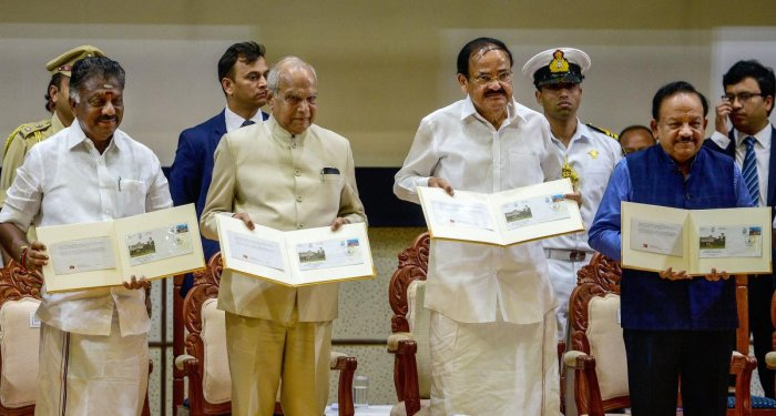ice President M Venkaiah Naidu at the inauguration ceremony of silver jubilee celebrations of National Institute of Ocean Technology (NIOT), in Chennai, Sunday, Nov. 3, 2019. (PTI Photo)
