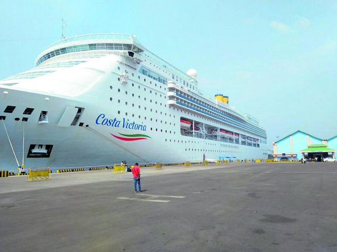 Italian flag cruise vessel Costa Victoria that called at New Mangalore Port on Tuesday.