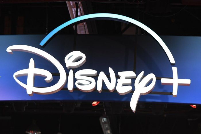 Disney+ streaming service sign (AFP Photo)