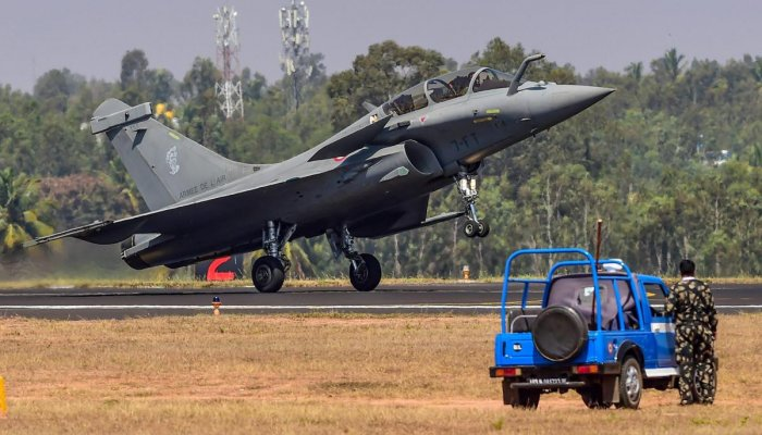 Rafale fighter aircraft lands.(PTI Photo)