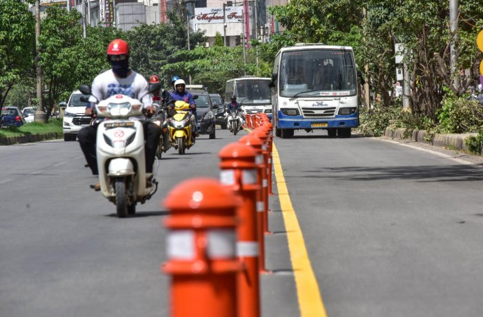 The bus lane work between Lowry Junction and Iblur Junction will be completed by November 15. DH FILE PHOTO