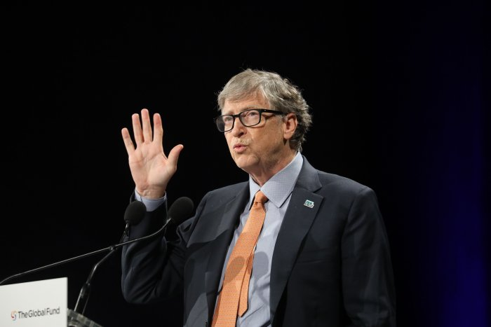 Microsoft founder, Co-Chairman of the Bill & Melinda Gates Foundation, Bill Gates. (AFP Photo)