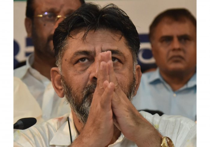 Congress leader D K Shivakumar (Photo by Janardhan B K)