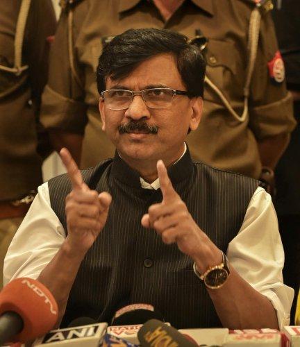 Shiv Sena's Rajya Sabha MP Sanjay Raut.(PTI Photo)