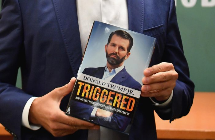 Donald Trump Jr. releases new book 'Triggered: How the Left Thrives on Hate and Wants to Silence Us' (AFP Photo)