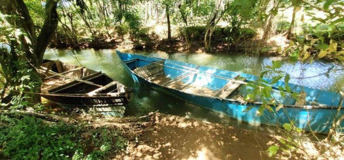 A boat used for illegal sand extraction in Kundapur taluk.