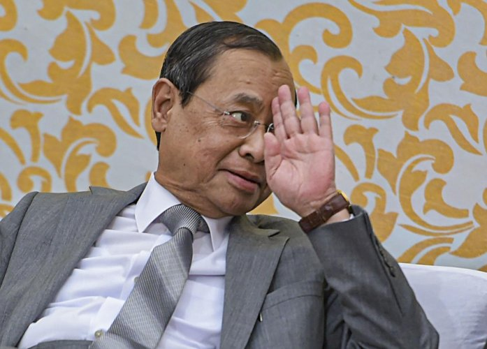 Chief Justice of India Justice Ranjan Gogoi during his farewell function at the Supreme Court.