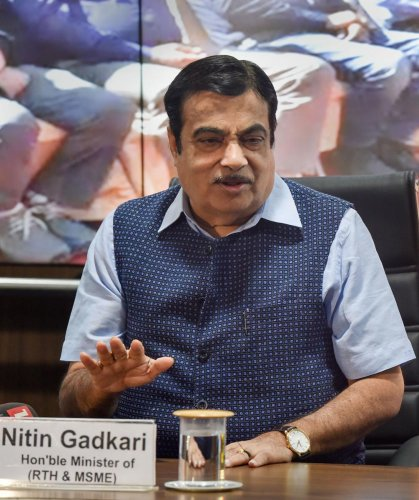 Union Minister of Road Transport and Highways & MSME Nitin Gadkari. (PTI Photo)