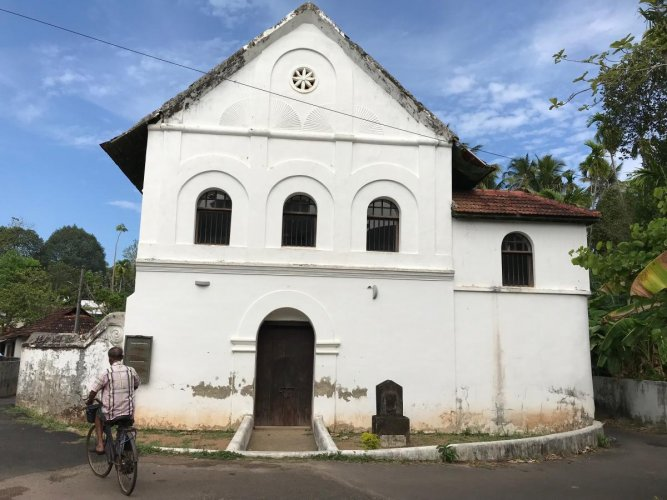 The Jewish Synagogue at Chendamangala which is protected by the ASI