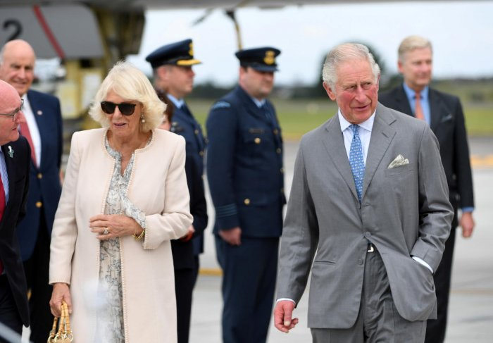 Britain's Prince Charles and his wife Camilla, Duchess of Cornwall, arrive at RNZAF Whenuapai in Auckland, New Zealand. (Photo by Reuters)