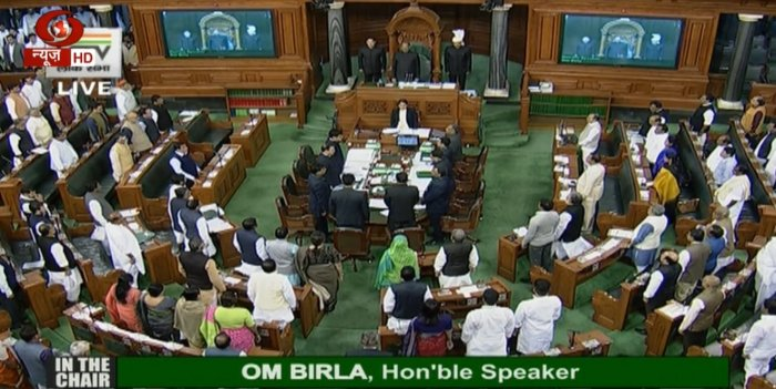 Despite the ruckus, seven questions and related supplementaries were taken up during the Question Hour. Parliamentary Affairs Minister Pralhad Joshi sought to pacify protesting members, saying the government was ready for any discussion.