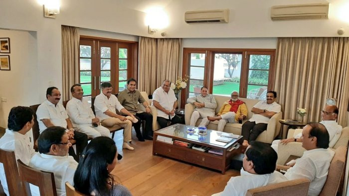In Pune, Sharad Pawar chaired a meeting of top NCP leaders and members of core committee.