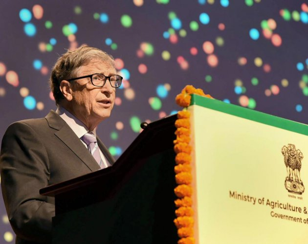 Co-Chair of the Bill & Melinda Gates Foundation Bill Gates addresses at the 8th International Conference on Agricultural Statistics (ICAS-VIII), in New Delhi. PTI