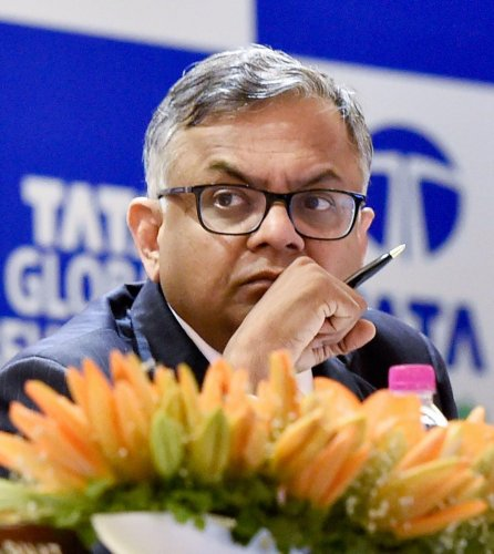 """""""System is bleeding. All the deadlocks have to be cleared,"""" Tata Sons chairman N Chandrasekaran said.Photo/PTI"""