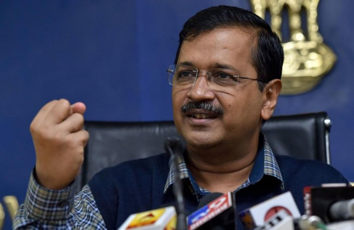 """""""The sky is clear now, there is no need of it (scheme)"""", Kejriwal said in a press conference. (PTI Photo)"""
