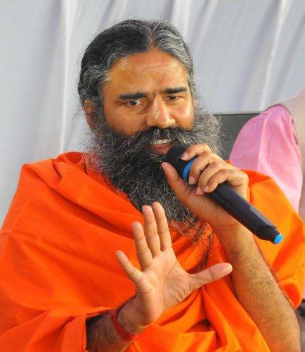 Yoga guru Baba Ramdev spoke to mediapersons in Udupi on Monday.
