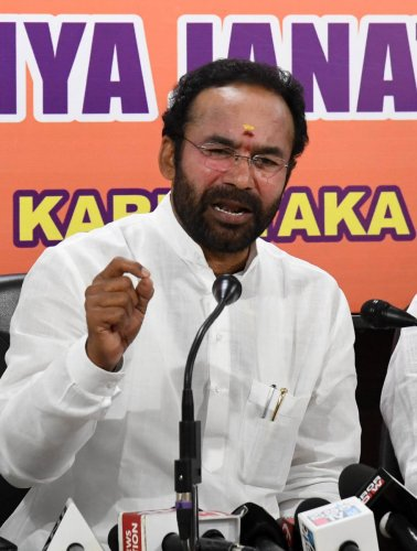 Union Minister of State for Home Accounting G Kishan Reddy. (DH Photo)