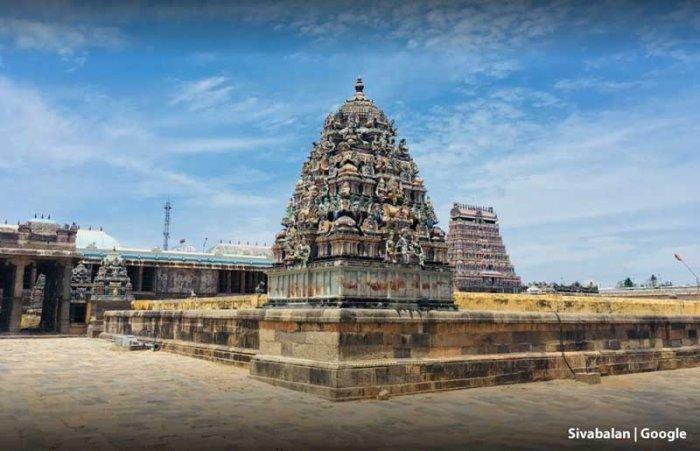 Thillai Nataraja Temple in Chidambaram (Photo credit: Google Maps)