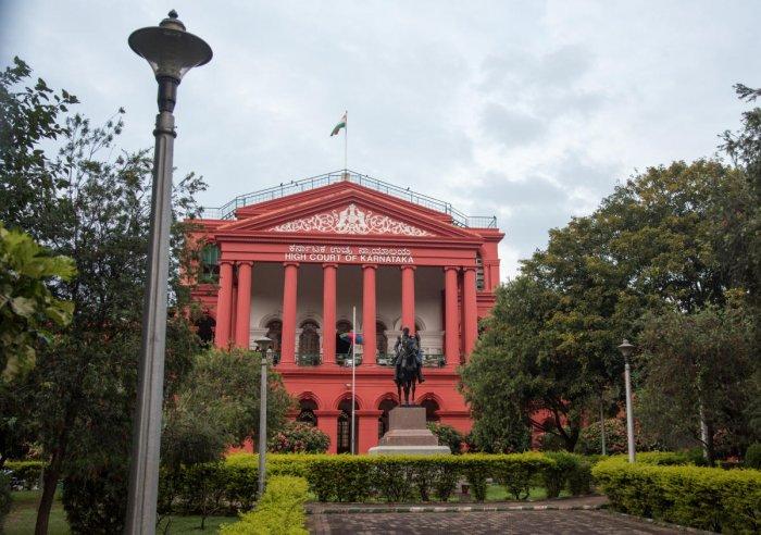 View of High Court inside Cubbon Park, in Bengaluru on Thursday. Photo/ B H Shivakumar