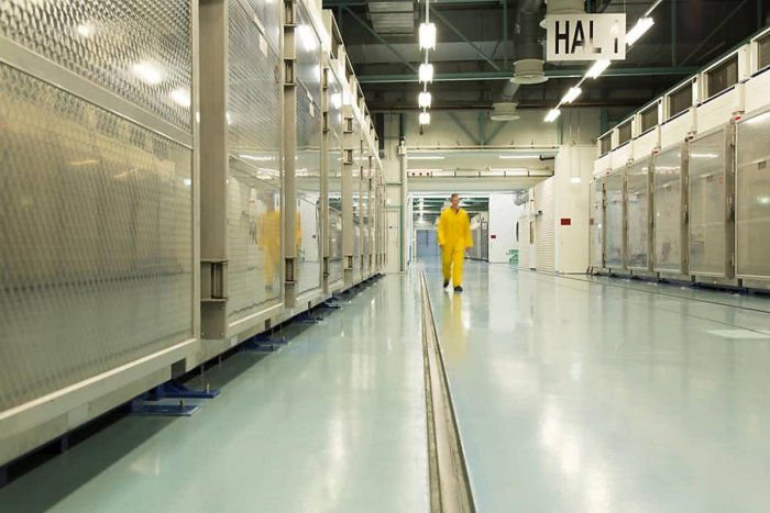 TOPSHOT - A handout picture released by Iran's Atomic Energy Organization on November 6, 2019, shows the interior of the Fordo (Fordow) Uranium Conversion Facility in Qom, in the north of the country. - An Iranian official announced that the plant will st