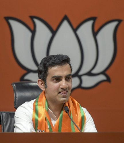 Gambhir, who is the only Lok Sabha MP in the Parliamentary Standing Committee on Urban Development, skipped the crucial meeting of the panel held on Friday. Photo/PTI