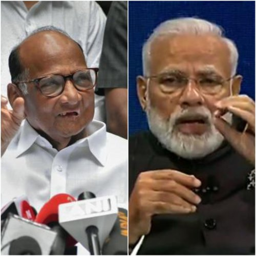 NCP chief Sharad Pawar and Prime Minister Narendra Modi. (DH photo)