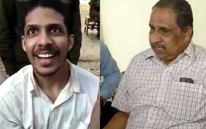 Myadan Prasanth and his father Babu Rao