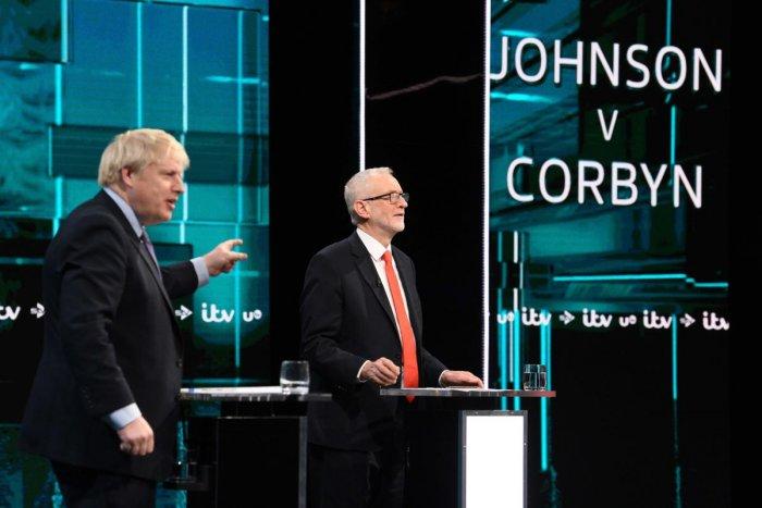 Boris Johnson and Jeremy Corbyn (AFP photo)