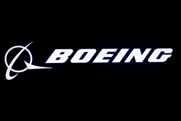 he Boeing logo at the New York Stock Exchange (NYSE) (Photo by Reuters)