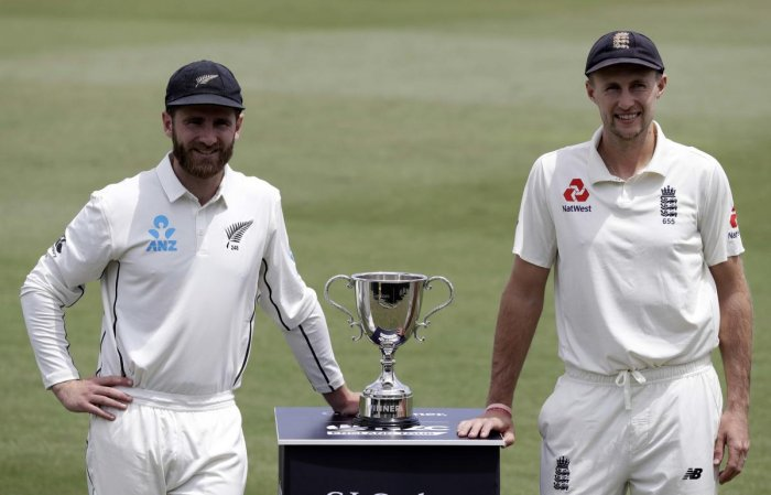 Rival captain's, New Zealand's Kane Williamson, left, and England's Joe Root. (PTI Photo)