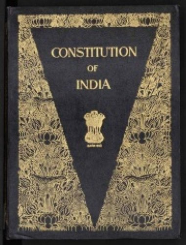 Constitution of India. (Photo by Wikipedia).